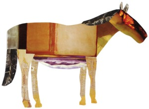 Melissa Weiss Steele Fire Horse collage 2005