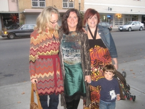 Sonya Lea, Cyndi, lil' William at the Painted Body photography art show