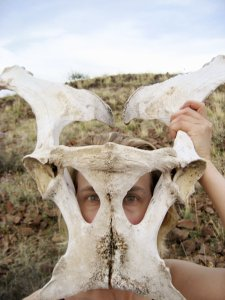 """""""Texas Bones Mask"""" from The Earthen Body photography series by Melissa Weiss Steele 2007"""