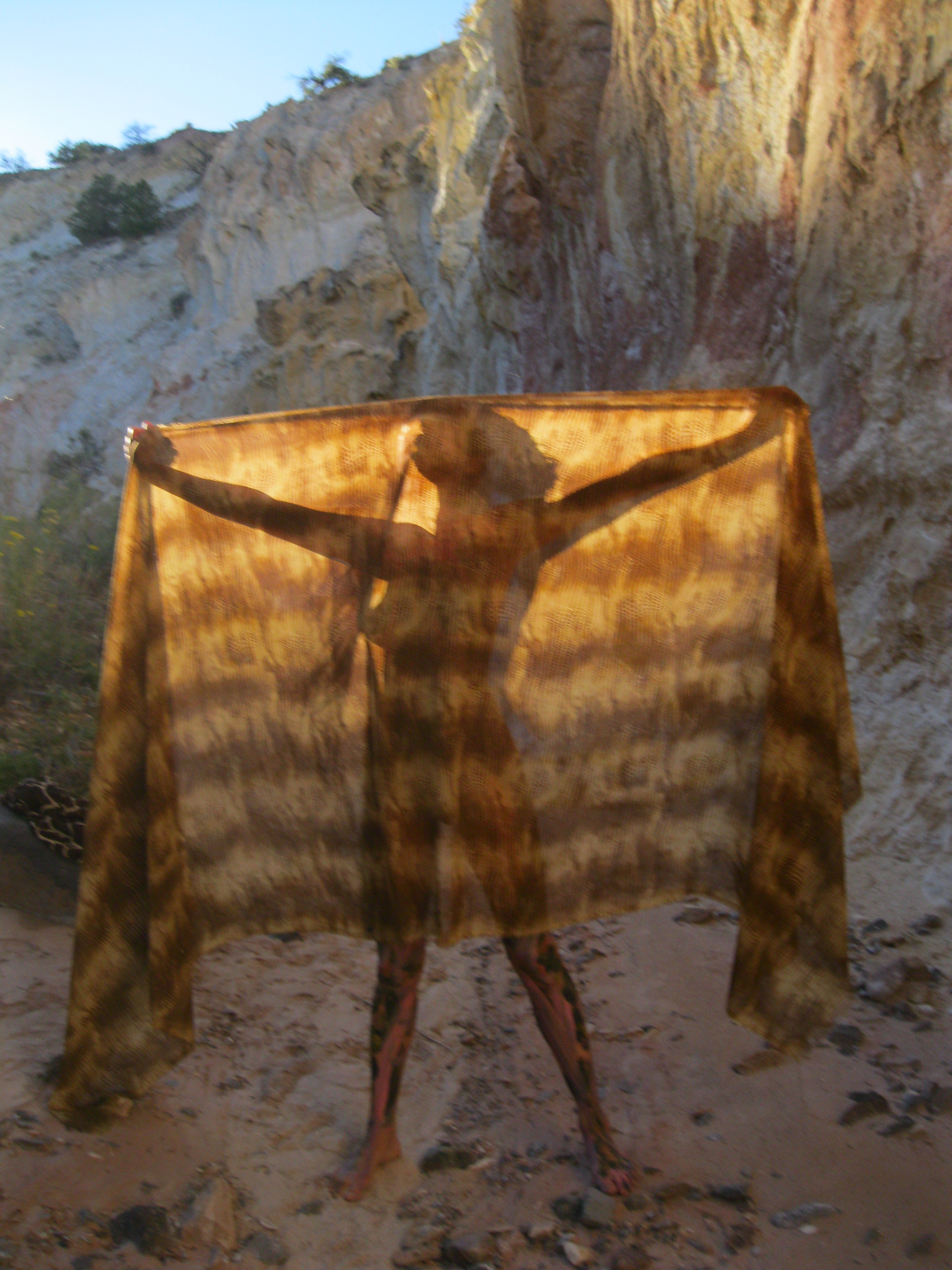 Margi halfon s painted body initiation into the hidden petra like new mexico desert mellissae - The cave the modern home in the mexican desert ...