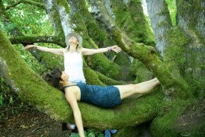 Mossy magical worlds with my beloved cousin Leela in Cascadia.