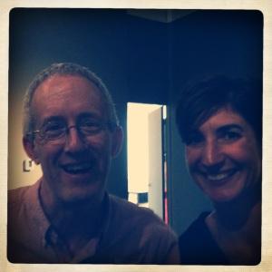 Pilchuck Glass School Director Jim Baker with Sarah Traver
