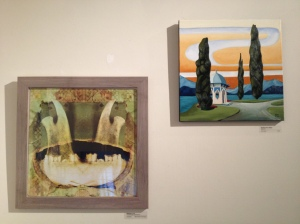 Mellissae Lucia photograph on left and Kristina Von Heinz painting on right