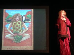 Lisa de St. Croix sharing her nearly finished Tarot deck