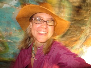 Happy in New Mexico graffiti tunnels for the filming of MK Barr's Painted in the Desert film about my desert metamorphosis