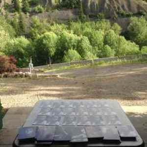 Collating Deluxe Oracle decks in the canyon