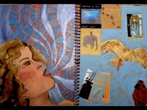 Lisa's wonderful collaged journals