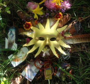 Solstice altar in gratitude for the campaign