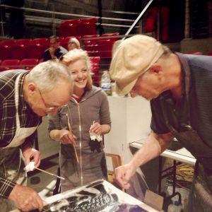 Dick, Sheila, and Bob printing