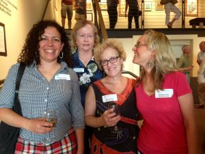Artists Maria Cristalli, curator Carol Hassen, and artists Becky Frehse, and moi at the Gallery One 4th of July opening. Photo by artist Julie Prather.