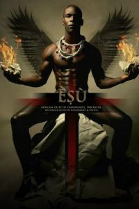 James C. Lewis' contemporary take on the Orishas. Blessings Esu/Eshu/Ellegua, guardian of the crossroads.