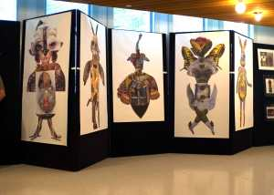 Langston Hughes Cultural Arts Center shown 2006 in Seattle with the Sacred Allies and Horse Dancers prints (poster sized allies)