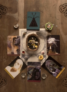 Oracle of Initiation Deluxe deck. Tarot-sized available too. Photo by Meekah Sage