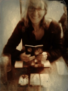 Anne Steveley in Santa Fe with she and Jill's Wheel of Fortune Tarot