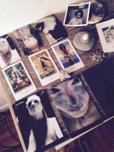 Oracle altars everywhere with The Vision Quest Tarot in the middle. Thanks Jabu. xx