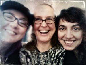 Deck creators Theresa Pridemore, moi, and Maree Bento at NWTS 2015